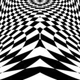 Design Movement Illusion Checkered Background Stock Images