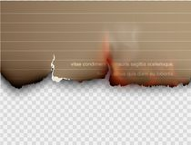Burning templates torn paper with fire. Design multicolored burning templates torn paper with fire Stock Image