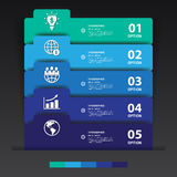 Design multicolour number banners template/graphic or website.ve Stock Images
