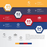 Design multicolour number banners template/graphic or website.ve Stock Photography