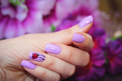 The design of nails spring style Stock Images