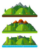 Design nature landscapes, hills and mountains. Natural landscape Royalty Free Stock Photography