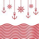 Design Nautical Template Royalty Free Stock Images