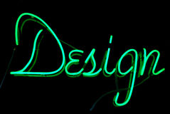 Design Neon Sign Stock Photo