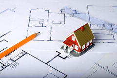 Design of new house. Stock Photos