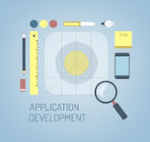 Design of new mobile ios application icon Royalty Free Stock Images