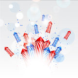 Design new year background with fireworks Royalty Free Stock Photo