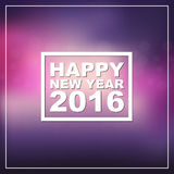Design New Year banner on a blurred background. Design New Year banner (poster) with the text of 2016 on blurred pink background. Vector illustration Stock Images