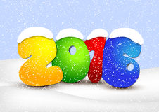 Design New Year cards. Winter landscape Stock Photo