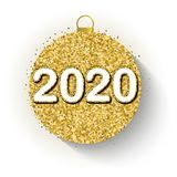 2020 design for New Year royalty free illustration