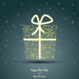 Design of New Year 2014 and Merry Christmas box Stock Images