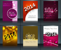 Design for new year template brochure card collect. Ion colorful celebration Royalty Free Stock Photography