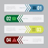 Design number banners template graphic or website layout Stock Image