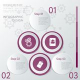 Design number banners template graphic or website layout Stock Images