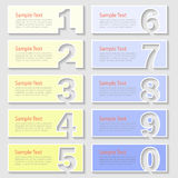 Design 10 number  Infographic. Vector illustration can be used for layout, workflow, diagram. 3D digital template Infographic. Vector illustration can be used Royalty Free Stock Photos