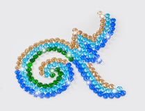 Number nine design with colorful gemstones. Design number nine with gemstones for the king Stock Photos