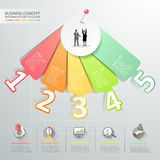 Design number options infographics. Vector illustration. Can be used for workflow layout, diagram, number options, graphic or website layout Stock Photography