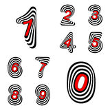 Design numbers set Royalty Free Stock Photos