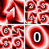 Design numbers set Stock Photography
