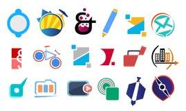 Design- och logobeståndsdelar Royaltyfri Bild