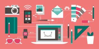 Design och teknologi stock illustrationer