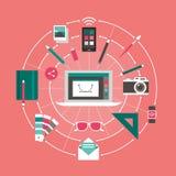 Design och teknologi vektor illustrationer