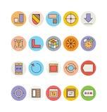 Design- och utvecklingsvektorsymboler 6 Arkivfoton