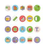 Design- och utvecklingsvektorsymboler 1 Fotografering för Bildbyråer