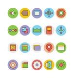 Design- och utvecklingsvektorsymboler 9 Arkivfoto
