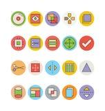 Design- och utvecklingsvektorsymboler 7 Royaltyfri Bild