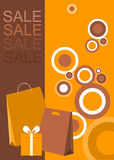 Design Of Poster / Flyer For Shopping Sale Royalty Free Stock Photos