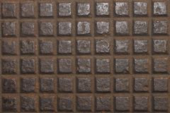 Design on old steel with rust for pattern Royalty Free Stock Images
