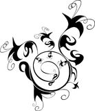 Design ornament. Black and white design ornament Royalty Free Stock Images