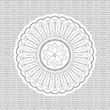Design ornament black and white. Mandala royalty free illustration