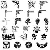 Design ornaments. Various element for design-ornaments Stock Photography