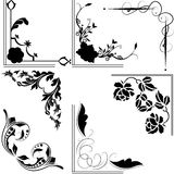 Design Ornaments Collection. Black design Ornaments Collection on white Stock Photography
