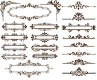Design ornamet Corners and borders Royalty Free Stock Image