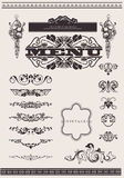 Design Ornate Elements Page Decoration. Stock Photo