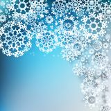 Design of overlapping snowflakes. EPS 10 Royalty Free Stock Photo