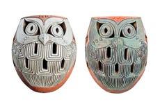 Design owl set of 2 Stock Images