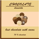 Design for a pack of chocolate Stock Photos