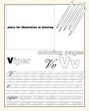 Design_22_the page layout of the English alphabet to teach writing upper and lower case letters with a place to insert an. Vector design page layout of the vector illustration