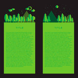 Design of pages with green landscape. Vector illustration Royalty Free Stock Photography
