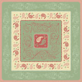 Design Paisley headscarf. Royalty Free Stock Images
