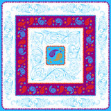 Design Paisley headscarf. Blue palette Royalty Free Stock Image