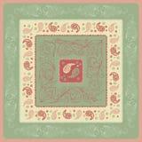 Design-Paisley-Kopftuch Lizenzfreie Stockbilder