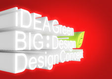 Design of panel 3d concept Royalty Free Stock Photography