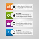 Design paper banners for business. Options infographics modern style. Royalty Free Stock Image