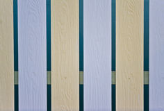 The design pattern of artificial wood fence Royalty Free Stock Images
