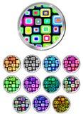 Design Pattern Button Set Royalty Free Stock Image